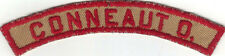 BOY SCOUT CONNEAUT O. (OHIO) TAN & RED COMMUNITY/STATE STRIP COMBO 30'S UNLISTED