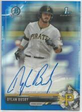 Dylan Busby Pittsburgh 2017 1st Bowman Draft Blue Refractor Autograph 068/150
