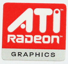 ATI  RADEON GRAPHICS  STICKER LOGO AUFKLEBER 16x14mm (424)