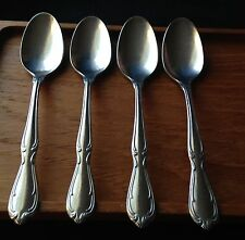 Teaspoons 4 International Stainless Rogers Cutlery Charmaine Victorian Manor