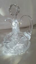 ABP Cut Crystal American Brilliant Period Squat Whiskey Jug Cruet Pinwheel