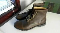 FOSSIL Low Men's Brown Leather Boots FFM7030200 SZ 13 (FS013)