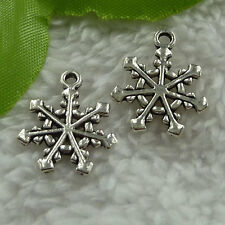 free ship 260 pieces tibet silver snowflake charms 20x17mm #2692
