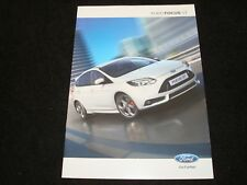 FORD FOCUS ST UK SALES BROCHURE MAY 2012 NEW, OLD STOCK