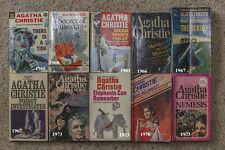 Vintage Agatha Christie 1960 - 1976 Mystery Books LOT (10)