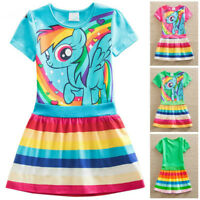 New Short Sleeve My little Pony Princess Girls Dress Casual Party Kids Clothes