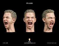 """Facepool 1/6 Head Carving Model with Expression FP-A-005 fit 12"""" Male Figure Toy"""