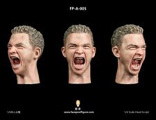 "Facepool 1/6 Head Carving Model with Expression FP-A-005 fit 12"" Male Figure Toy"