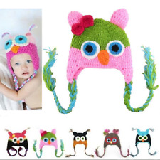 Baby Kids Owls Hat Owl Knitted Cap Crochet Hat Photo Shooting Owl Hat New