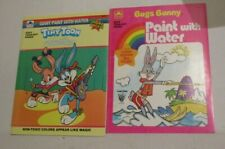 2 Golden Paint with Water books Bugs Bunny Tiny Toon Adventures unused 1980