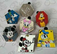 Shapes 2019 Hidden Mickey Minnie Donald Daisy Goofy Pluto 7 Disney Pin Set