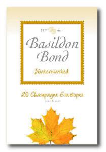 BASILDON BOND Champagne Envelopes - Pack of 20 Watermarked Envelopes Duke Size