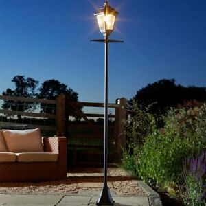 2m Victorian Solar Lamp Post 200 Lumens Traditional Path Outdoor Garden Lights