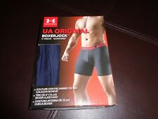 New Mens Under Armour Boxer Jock. Dark Blue. Small S Shorts. UA 6 inch inseam