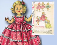 1950s Vintage Simplicity Sewing Pattern 1372 Cute 8 Inch Ginny Doll Clothes