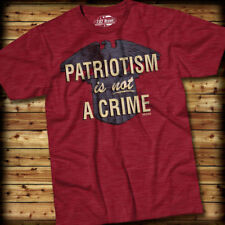 PATRIOTISM IS NOT A CRIME T-Shirt- 7.62 Design SIZE SM