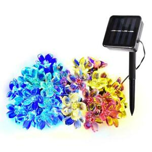 Multi Colour LED Solar Power Flower Fairy Garden Lights Outdoor Wedding Party!
