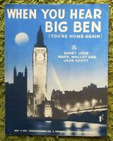When You Hear Big Ben - Leon, Malloy & Scott: 2 pages P.V.G. 1953 Clean Copy
