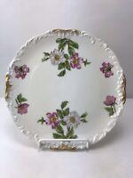 Antique T&V France Limoges Tressemanes & Vogt Hand Painted Plate Floral Gold Rim