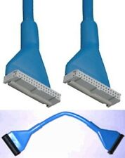 """10""""inch short SINGLE/1 device FD/Floppy Disk Drive Round Cable/Wire 34pin {BLUE"""