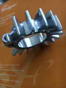 """1 1/4"""" Triumph T150 T160 BSA A75 FINNED EXHAUST cooling CLAMP polished alloy"""