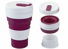 Summit Mybento Grande Pop Cup 450ml Collapsible Coffee Mug Foldable - Berry