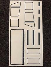 1/14 Tamiya Truck Mercedes 1838 Black Plastic Rubber Stickers Decals