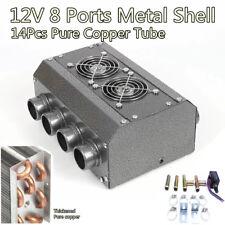 12V 8 Port 14Pcs Copper Tube Heater for Car Truck Vintage Muscle Car Under-dash