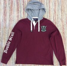 NWT Polo Ralph Lauren Boathouse Double Scull Rugby Hoodie Shirt L Stadium Bear