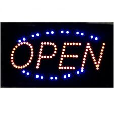 "13 in x 24"" Animated Motion Running Led Business Open Sign +On/Off Switch Light"