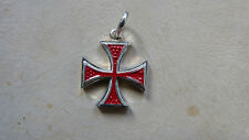 CROCE di MALTA IN ARGENTO SMALTATO 925 sterling silver