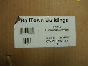 1998 30-9104 MTH Railtown Speedy Operating Carwash Accessory, New/OB