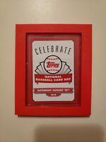 Red Baseball Card Frame-Top Loader Holder. HANG ON WALL, OR SET ON DESK!