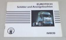 Manual Iveco Eurotech para Señal + Anzeigeleuchten Stand 10/1993