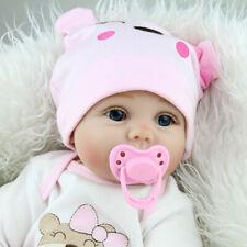 22'' Handmade Silicone Vinyl Reborn Baby Doll Realistic Newborn Girl Kids Toy US
