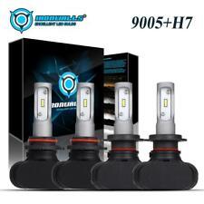 4x 9005 H7 LED Headlight Conversion Kit 4200W 630000LM High Low Beam Bulbs 6500K