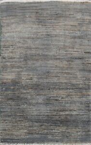 Distressed Modern Gabbeh Kashkoli Oriental Area Rug Hand-knotted Wool 2x3 Carpet