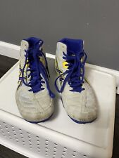 Asics Men's Or Youth Snapdown Wrestling Shoes Grey/ Blue/yellow