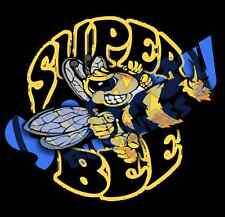 """8"""" Super Bee Decal Cut to Shape"""