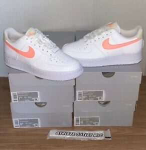 New Nike Air Force 1 Low White Atomic Pink Womens Size 75-9.5 Sneaker 315115-157