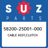 58200-25D01-000 Suzuki Cable assy,clutch 5820025D01000, New Genuine OEM Part