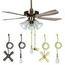 Ceiling Fan Pull Chain Beaded Ball Extension Chains With Light Bulb And Fan Cord