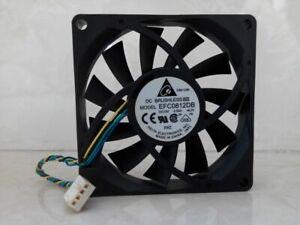 Delta EFC0812DB 12V 0.50A 8015 8cm 4-pin dual ball high air volume pwm fan