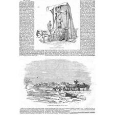 LONDON The Manufacture and trade of Ice in the City - Antique Print 1845