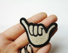 Hang Ten Loose Hand, Shaka Sign, Surf Surfer Embroidered Patch Iron-On/Sew On