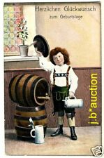 BIER FASS KRUG BEER BARREL STEIN * AK um 1910 PC