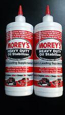 2 X MOREYS HEAVY DUTY OIL STABILIZER 1LT ENGINE GEARBOX DIFF PETROL DIESEL