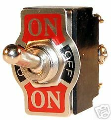 CAR UNIVERSAL METAL TOGGLE ON/OFF/ON TOGGLE FLICK SWITCH 20A 12V 24V DOUBLE POLE