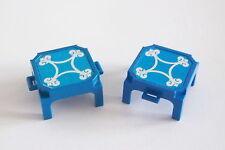 PLAYMOBIL (U1101) CIRQUE - Lot de 2 Podiums Bleu Dompteur Dresseur de Lions 3517