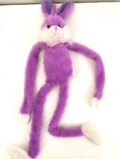 Greenbrier Bunny Rabbit Plush Purple - Hanging Hook Loop Fastener Hands 22""